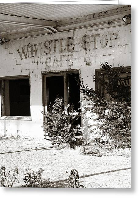 Overgrown Greeting Cards - The Old Whistle Stop Cafe Greeting Card by Marilyn Hunt