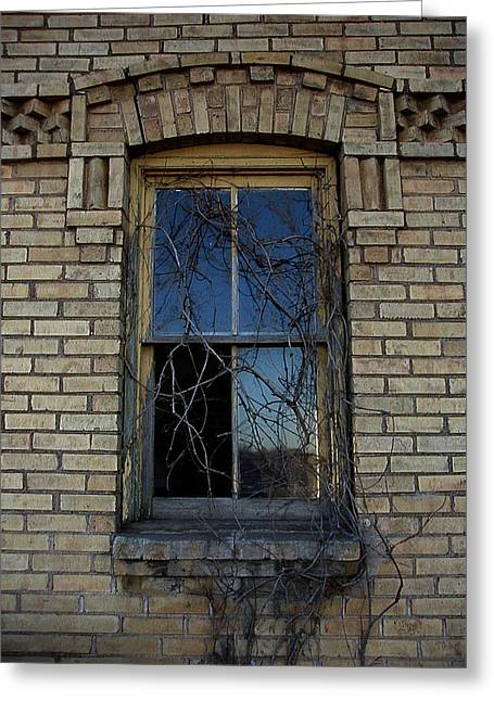 Abandonded Greeting Cards - The Old Window Greeting Card by Laurie With