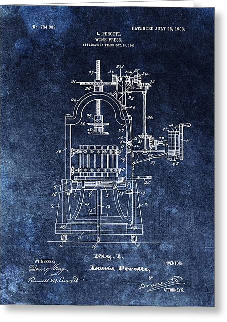 The Old Wine Press Greeting Card by Dan Sproul