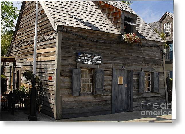 School Houses Greeting Cards - The Oldest School House Greeting Card by David Lee Thompson
