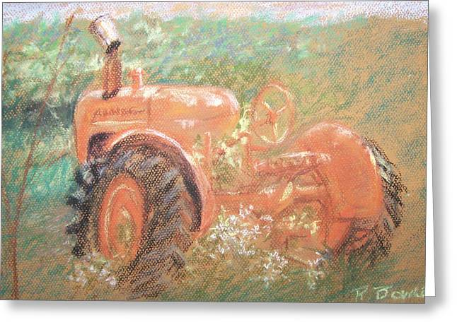 Farming Pastels Greeting Cards - The Ole Allis Chalmers Greeting Card by Ron Bowles