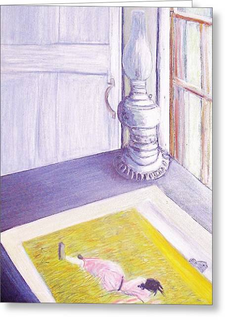 Olson House Greeting Cards - the Olson house desk Greeting Card by Paul  Crimi