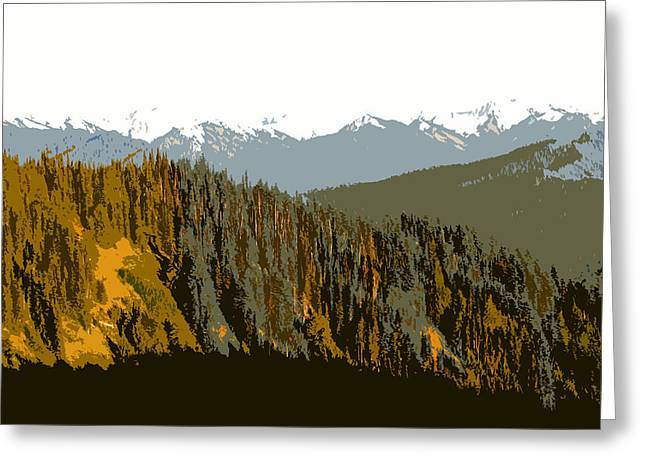 Olympic Mountains Greeting Cards - The Olympic Mountains Greeting Card by David Lee Thompson