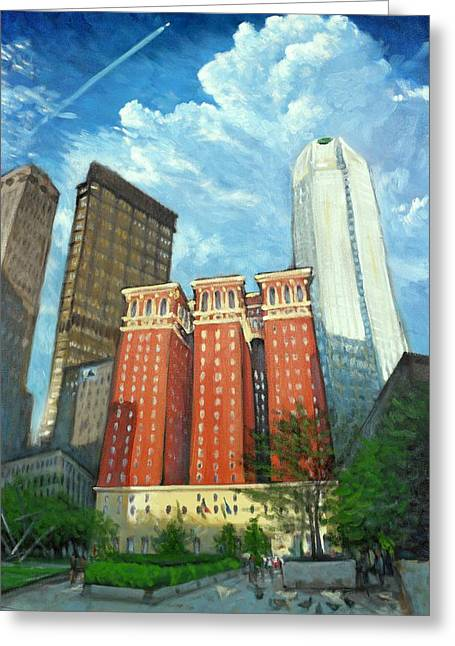 The Omni William Penn Hotel Greeting Card by Erik Schutzman