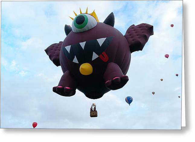 The One Eyed Monster Greeting Card by Jeff Swan