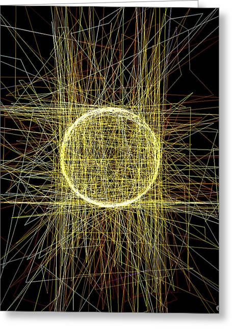Top Selling Digital Art Greeting Cards - The One Greeting Card by Hengameh Kaghazchi