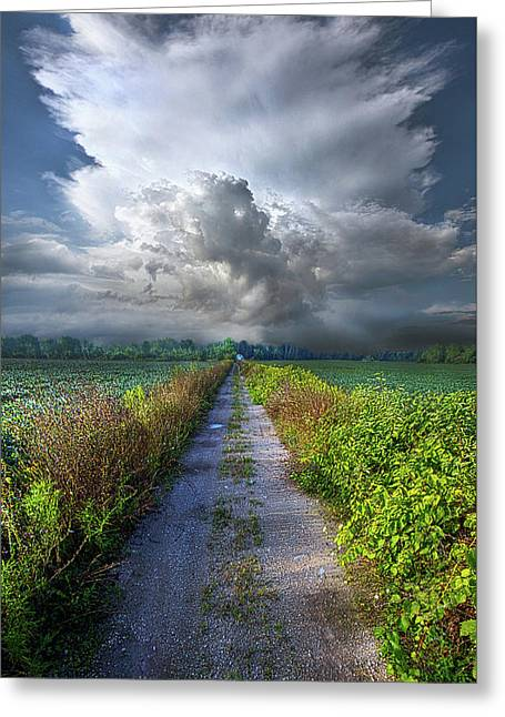 The Only Way In Greeting Card by Phil Koch