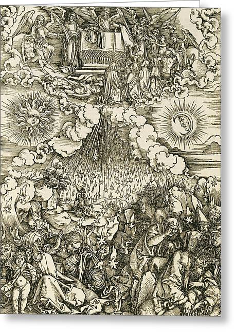 The Opening Of The Sixth Seal  Greeting Card by Albrecht Durer