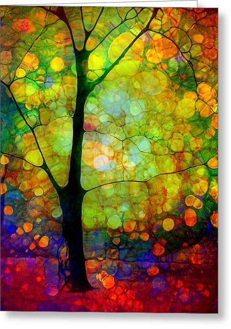 Forest Floor Digital Art Greeting Cards - The Optimist Greeting Card by Tara Turner