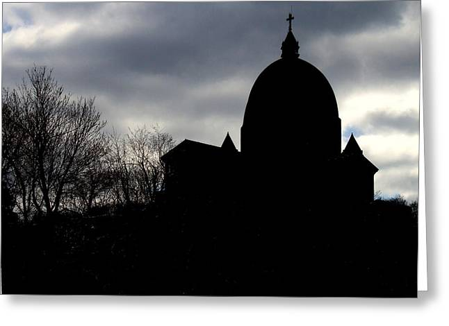 Oratory Greeting Cards - The Oratory - Silhouette Greeting Card by Robert Knight