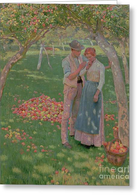 Darling Greeting Cards - The Orchard Greeting Card by Nelly Erichsen