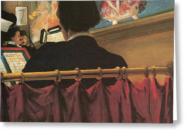 Orchestra Pit Greeting Cards - The Orchestra Pit Greeting Card by Everett Shinn