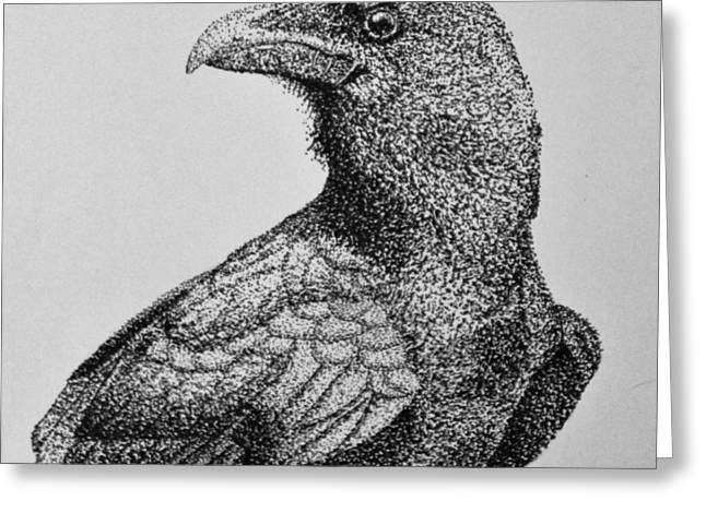 Pen And Ink Drawing Greeting Cards - The Original Familiar Greeting Card by Mik Smith