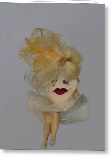 Eyelash Greeting Cards - The Original Marilyn Greeting Card by Suzanne Rogers