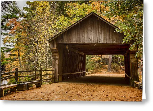 The Original Taft Covered Bridge  Greeting Card by Jeff Folger