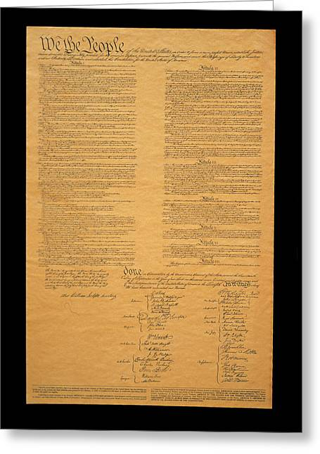 The Original United States Constitution Greeting Card by Panoramic Images