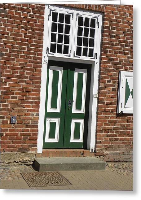 Viertel Greeting Cards - The Other Green Door Greeting Card by Christine  Davis