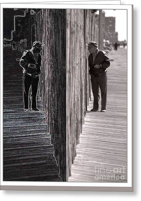 Both Sides Of The Fence Greeting Card by Jeff Breiman