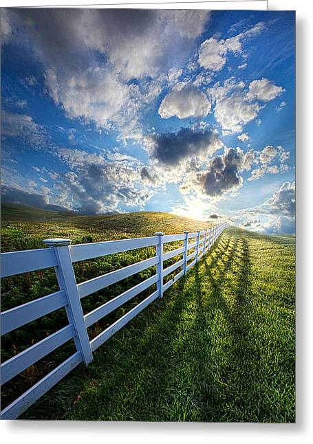 White Photographs Greeting Cards - The Other Side of Somewhere Greeting Card by Phil Koch