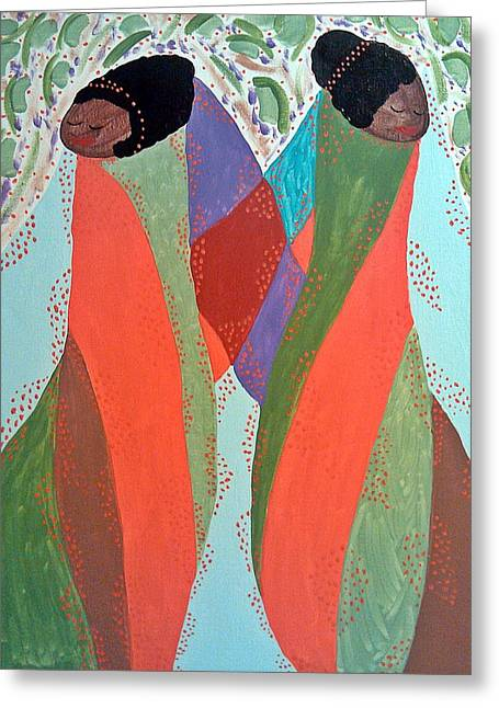 Spiritual Portrait Of Woman Greeting Cards - The Overseers Greeting Card by Clarissa Burton