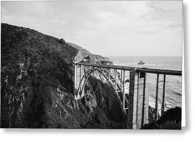 Bixby Bridge Greeting Cards - The Pacific Highway Through Big Sur Greeting Card by Michael Haslem