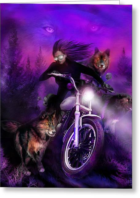The Pack Greeting Card by Carol Cavalaris