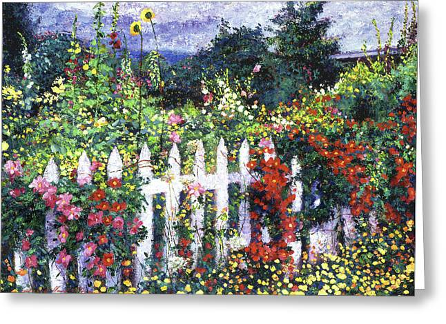 Most Greeting Cards - The Painters Palette Garden Greeting Card by David Lloyd Glover
