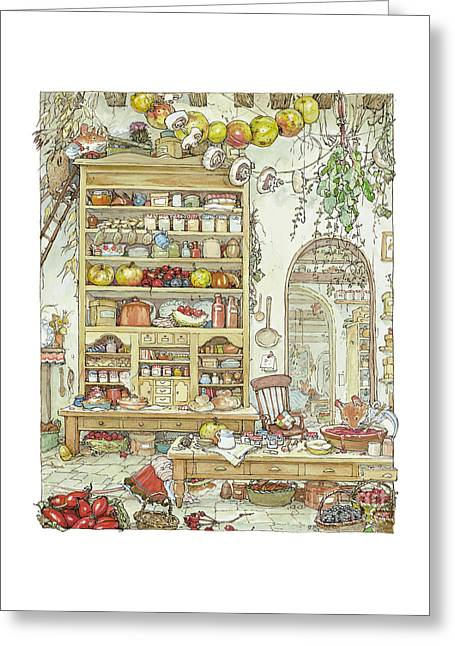 Coloured Greeting Cards - The Palace Kitchen Greeting Card by Brambly Hedge