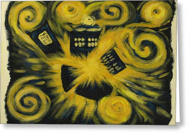 The Pandorica Opens Greeting Card by Lauren Cawthron