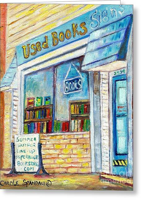 The Paperbacks Plus Book Store St Paul Minnesota Greeting Card by Carole Spandau