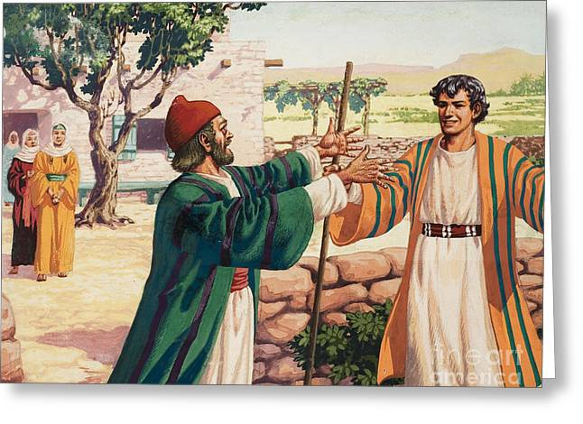The Parable Of The Prodigal Son Greeting Card by Pat Nicolle
