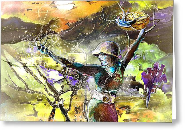Parable Greeting Cards - The Parable of The Sower Greeting Card by Miki De Goodaboom