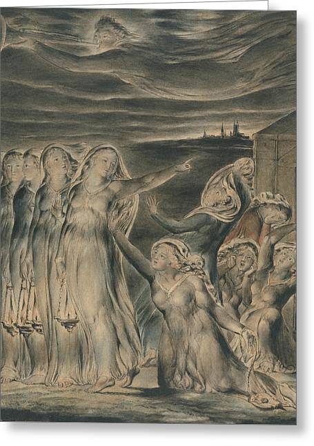 The Parable Of The Wise And Foolish Virgins Greeting Card by William Blake