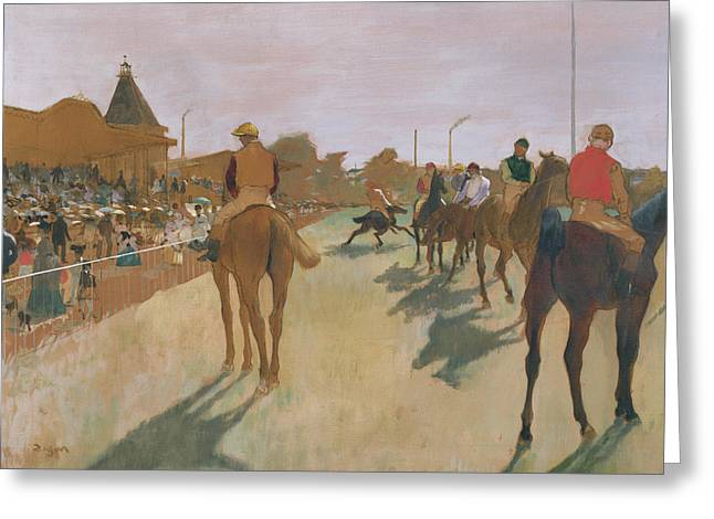The Front Greeting Cards - The Parade Greeting Card by Edgar Degas