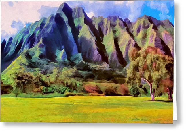 Lahaina Greeting Cards - The Park at Kualoa Greeting Card by Dominic Piperata