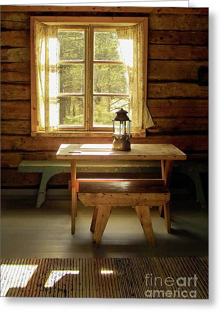 Cabin Interiors Photographs Greeting Cards - The Parlour Greeting Card by Heiko Koehrer-Wagner