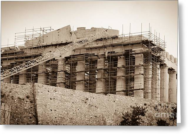 Civilization Greeting Cards - The Parthenon - Athens Greece Greeting Card by Debra Martz
