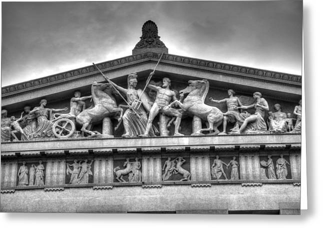 The Parthenon In Nashville Greeting Card by John Straton
