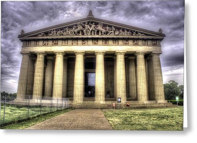 The Parthenon In Nashville V2 Greeting Card by John Straton