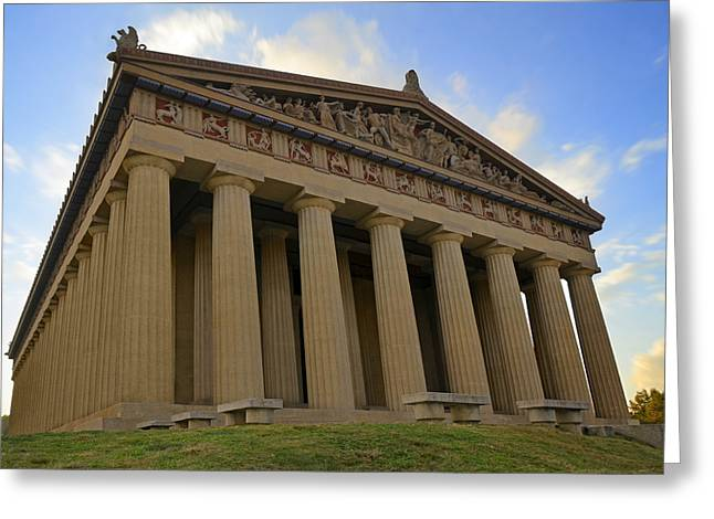 Nashville Tennessee Greeting Cards - The Parthenon Greeting Card by Steven  Michael