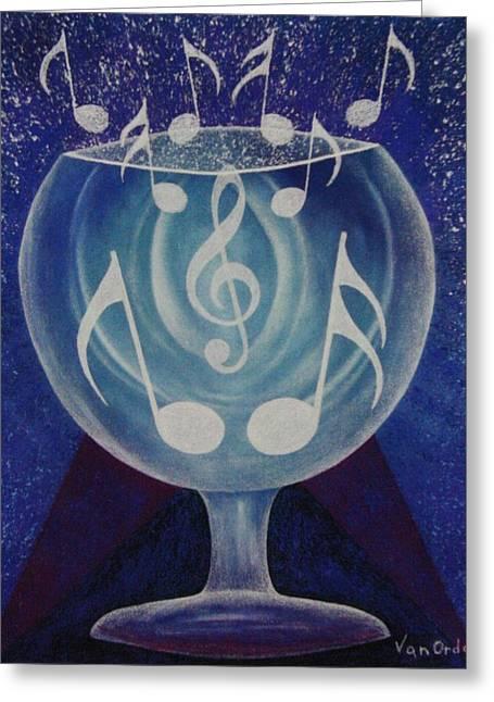 Tears Pastels Greeting Cards - The Party Jug Greeting Card by Richard Van Order