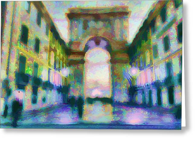 Impressionism Reliefs Greeting Cards - The Passage  Greeting Card by Daniel  Arrhakis