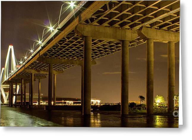 A Great Passageway Arthur Ravenel Jr Bridge Charleston South Carolina Greeting Card by Reid Callaway