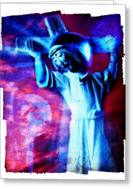 The Passion Of Christ Xv Greeting Card by Aurelio Zucco