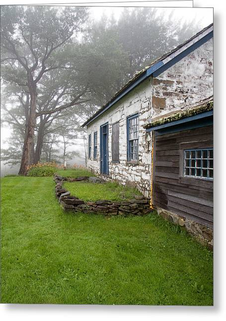 Pastor Greeting Cards - The Pastors House on a Foggy Afternoon Greeting Card by Carol Hathaway