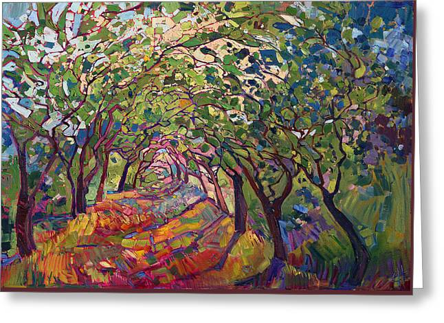 The Path Greeting Card by Erin Hanson