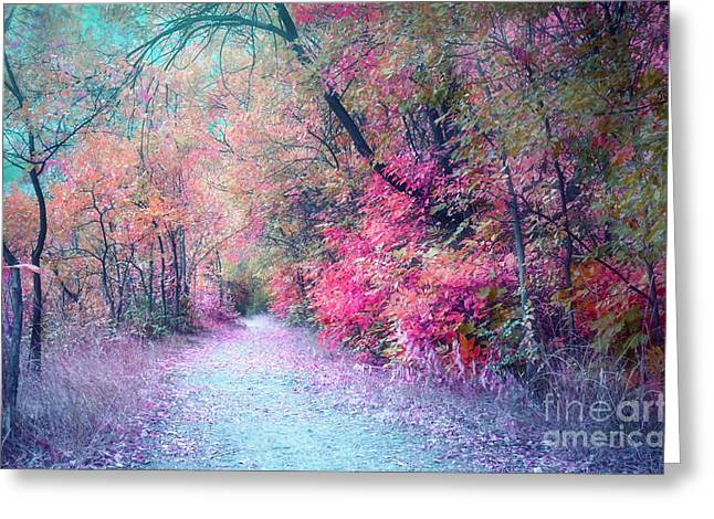 Process Greeting Cards - The Pathway of Gentle Memories Greeting Card by Tara Turner