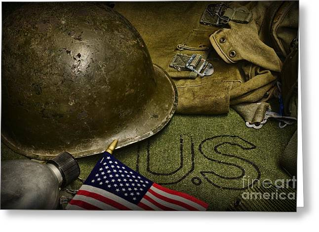 Grunts Greeting Cards - The Patriot Greeting Card by Paul Ward