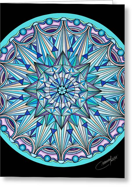 Geometrical Pastels Greeting Cards - The Peace Within Greeting Card by Marcia Lupo