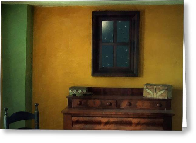 The Peach Room Greeting Card by RC deWinter